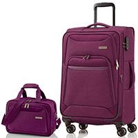 Чемодан фиолетовый Travelite Kendo  47x77x30/34см с сумкой, фото