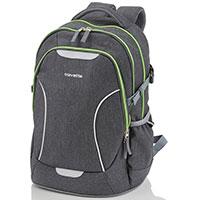 Рюкзак Travelite Basics округлой формы серого цвета, фото