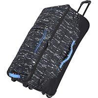 Принтованная дорожная сумка на колесах 78x43x30-38см Travelite Basics с функцией расширения, фото