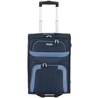 Маленький текстильный чемодан 53x37х20см Travelite Orlando синего цвета, фото