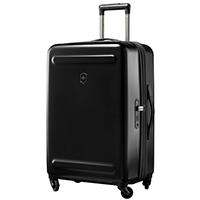 Среднего размера черный чемодан 67х45х30-34см Victorinox Etherius на молнии, фото