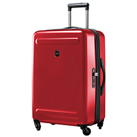 Среднего размера чемодан 67х45х30-34см Victorinox Etherius в красном цвете, фото