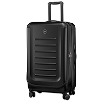 Большой черный чемодан 78х48х32-43см Victorinox Spectra 2.0 Expandable на молнии, фото