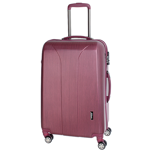 Чемодан цвета бургунди 65x47x26см March New Carat среднего размера с замком блокировки TSA, фото