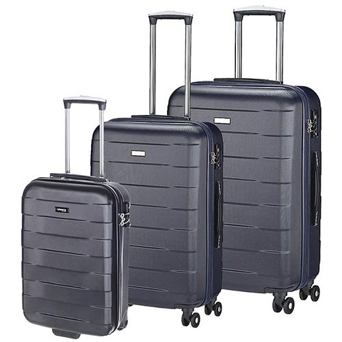 Набор синих чемоданов March Bumper с замком блокировки TSA, фото