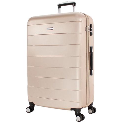 Бежевый большой чемодан 76х30х48см March Bumper с замком блокировки TSA, фото