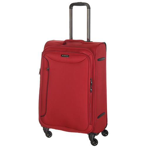 Красный чемодан среднего размера 68x26x42см March Delta с замком блокировки TSA, фото