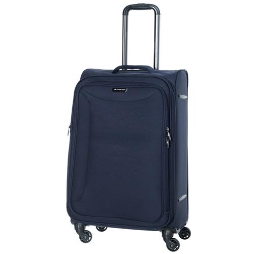 Синий чемодан среднего размера 68x26x42см March Delta с 4х колесной системой, фото