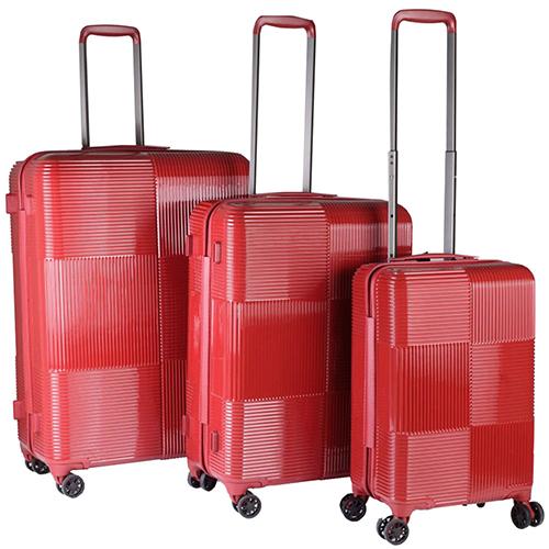 Набор чемоданов March Avenue с корпусом красного цвета, фото