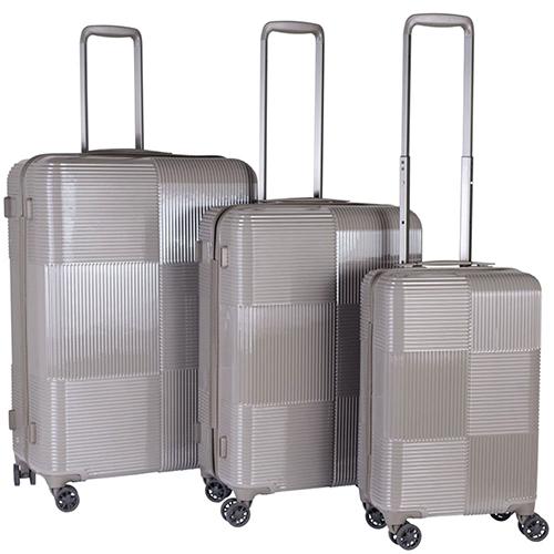 Набор чемоданов бежевого цвета March Avenue с корпусом из поликарбоната, фото