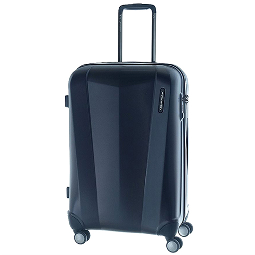 Среднего размера синий чемодан 68x26x44см March Vision с замком блокировки TSA, фото