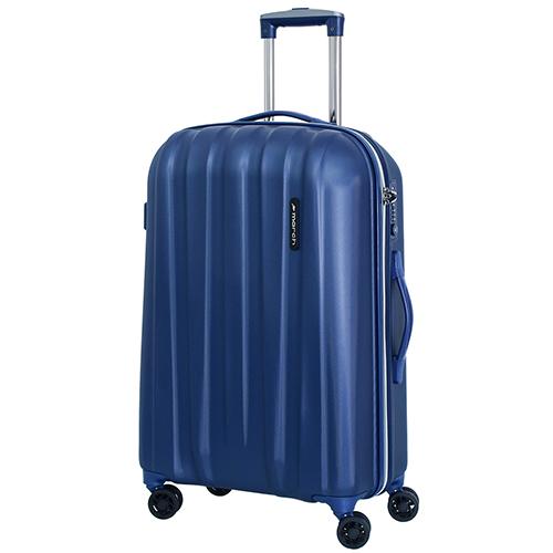 Среднего размера синий чемодан 68x45x23см March Rocky с замком блокировки TSA, фото