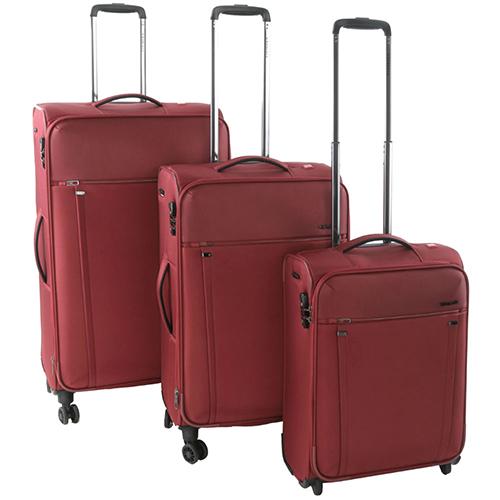 Набор чемоданов Roncato Zero Gravity в бордовом цвете, фото