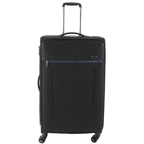 Черный чемодан 67x44x27-31см Roncato Zero Gravity Deluxe среднего размера с функцией расширения, фото