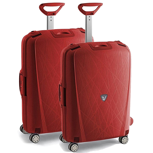 Набор чемоданов красного цвета Roncato Light с корпусом из полипропилена, фото