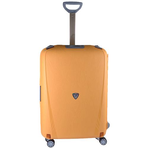 Желтый чемодан среднего размера 68x48x27см Roncato Light на 4х колесах, фото