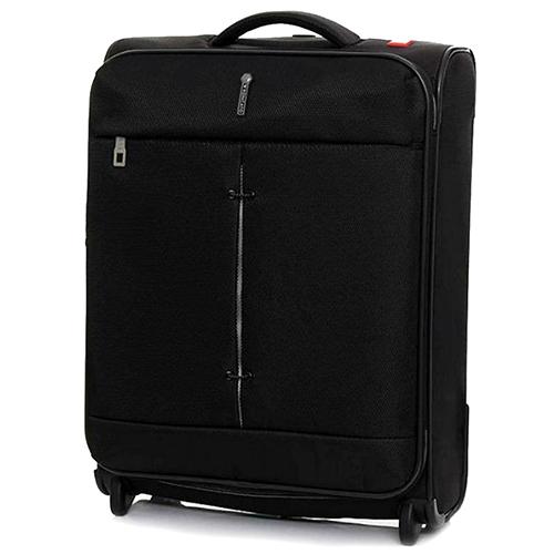 Маленький чемодан черного цвета 55х40х20-23см Roncato Ironik с замком блокировки TSA, фото