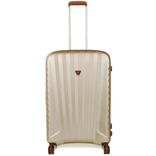 Бежевый чемодан 71x46x24см Roncato Uno ZSL Premium среднего размера с 4х колесной системой, фото