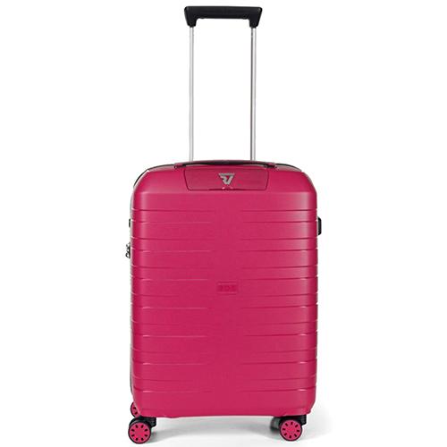 Маленький чемодан малинового цвета 55х40х20см Roncato Box из полипропилена, фото