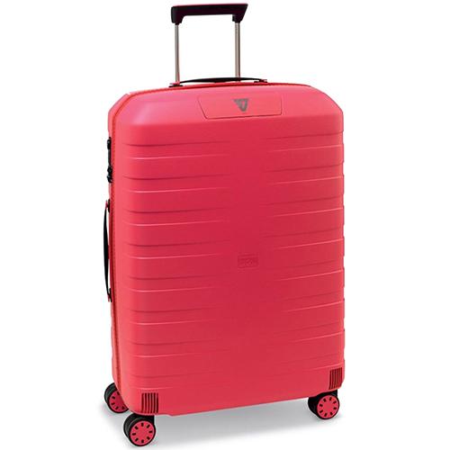 Большой чемодан 78х50х30см Roncato Box 2.0 с корпусом красного цвета, фото