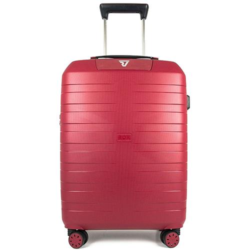 Красный чемодан 55х40х20см Roncato Box 2.0 размера ручной клади, фото