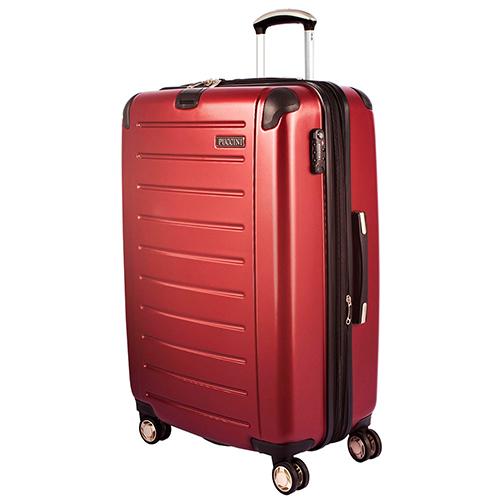 Большой бордовый чемодан 79x53x33см Puccini PC016 с функцией расширения, фото