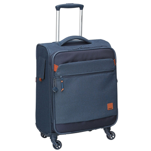 Маленький синий чемодан 55х25х37см Hedgren Escapade с 4х колесной системой, фото