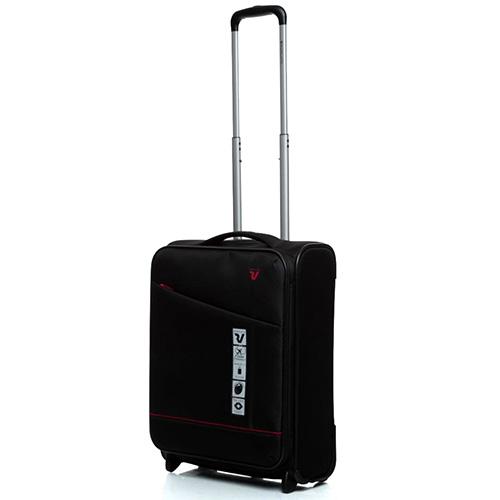 Черный чемодан 55х40х20-23см Roncato Jazz малого размера, фото