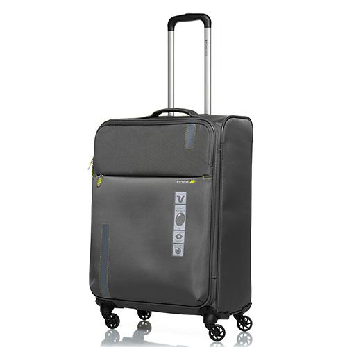 Дорожный чемодан среднего размера 67х44х27-31см Roncato Speed цвета антрацит 4-х колесный, фото
