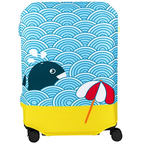 Чехол для чемодана BG Berlin Light Whale L, фото
