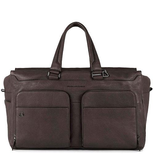 Дорожная сумка Piquadro Bagmotic коричневого цвета, фото