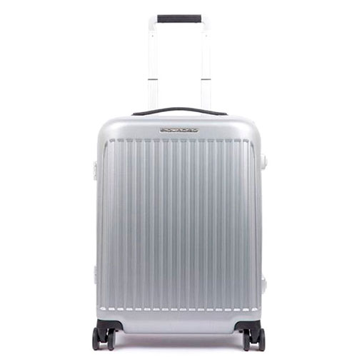 Дорожный чемодан Piquadro Relyght 55х40х20см серебристого цвета, фото