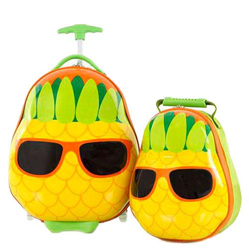 Детский набор Heys Travel Tots Pineapple из чемодана и рюкзака, фото