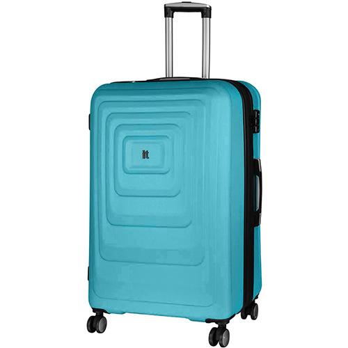 Голубой чемодан IT Luggage Mesmerize Aquamic 81х55х34см, фото