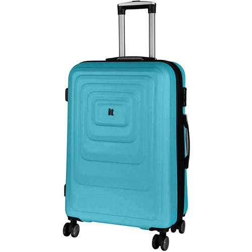 Голубой чемодан IT Luggage Mesmerize Aquamic 72х48х30см, фото