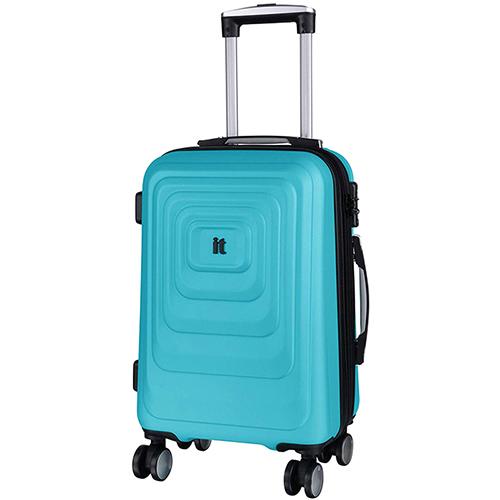 Голубой чемодан IT Luggage Mesmerize Aquamic 55х36х26см, фото