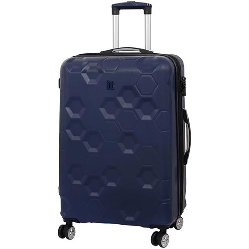Синий чемодан IT Luggage Hexa Blue Depths 71х49х29см, фото