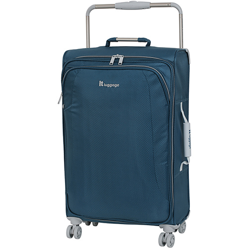 Синий чемодан IT Luggage New York Blue Ashes 70х41х23см, фото