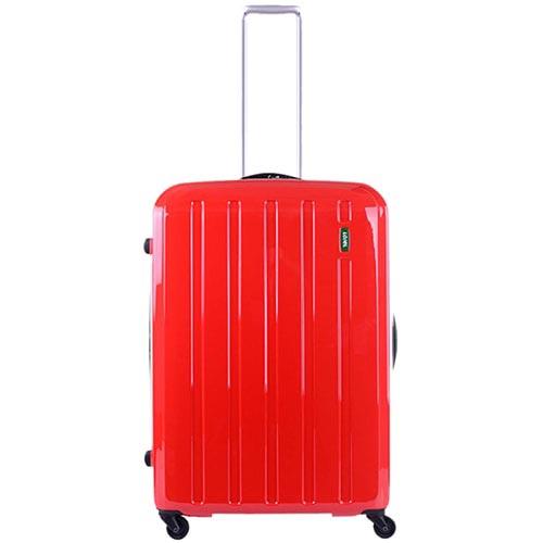 Большой красный чемодан 49х71х29(32)см Lojel Lucid с функцией регулировки размера, фото