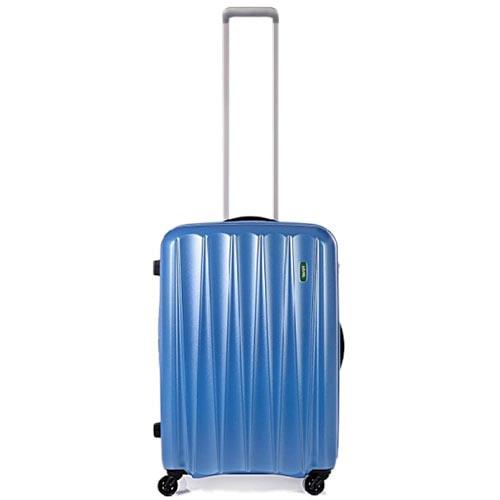 Маленький синий чемодан 37х55х23см Lojel Essence размера ручной клади с выдвижной ручкой, фото