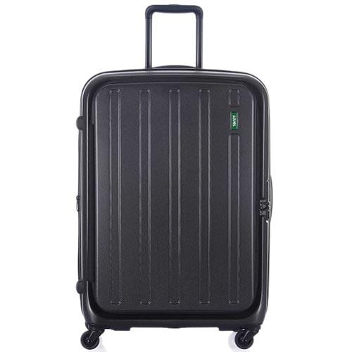 Большой чемодан 51х73,5х30,5(33,5)см Lojel Hatch на колесиках темного серого цвета с регулировкой размера, фото