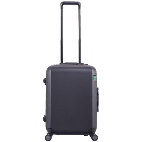 Маленький черный чемодан 40х54,2х23см Lojel Rando на колесиках с длинной ручкой, фото