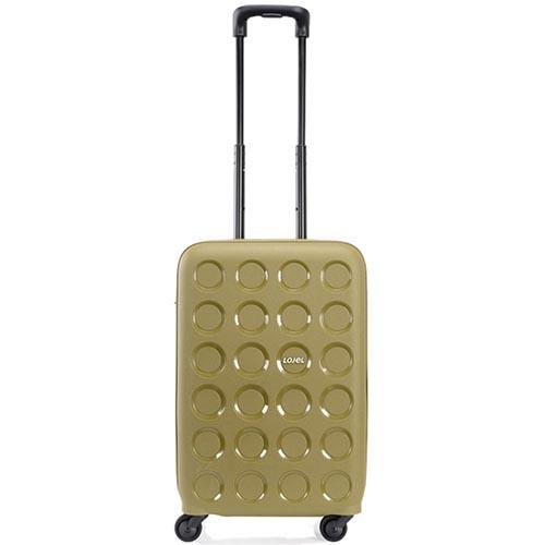 Небольшой чемодан 36х54,8х24,7см Lojel Vita зеленого цвета с тиснением и выдвижной ручкой, фото