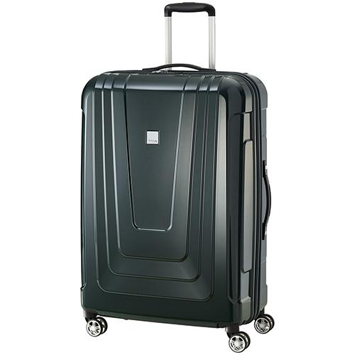 Большой чемодан 52x77x29см Titan X-Ray Racing Green с кодовым замком, фото