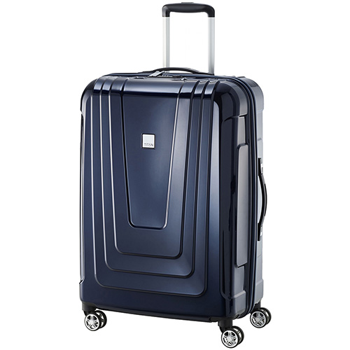 Синий чемодан 50x72x28см Titan X-Ray Space Blue с удвоенными колесами, фото