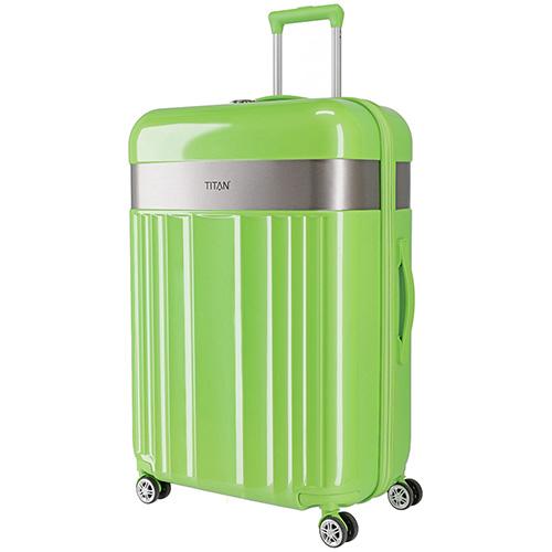 Ярко-зеленый чемодан 51x76x30см Titan Spotlight Flash Flashy Kiwi с кодовым замком, фото