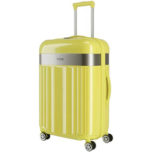 Желтый чемодан 45x67x27см Titan Spotlight Flash Lemon Crush среднего размера, фото