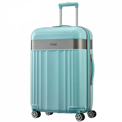 Средний чемодан 45x67x27см Titan Spotlight Flash мятного цвета, фото