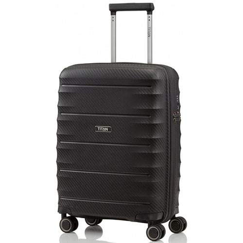 Маленький чемодан 40x55x20см Titan Highlight черный, фото