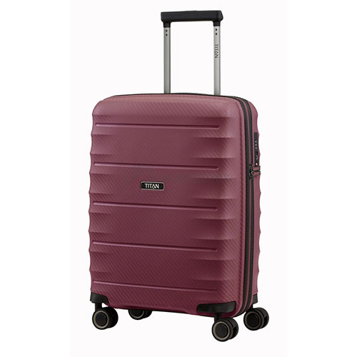 Маленький чемодан 40x55x20см Titan Highlight бордовый, фото